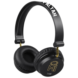 boAt Mumbai Indians Edition Wireless Headphone with Mic (Bluetooth 4.1, HD Sound, Rockerz 400, Black)_1