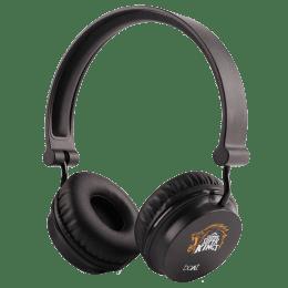 boAt Chennai Super Kings Edition Wireless Headphone with Mic (Bluetooth 4.1, HD Sound, Rockerz 400, Black)_1