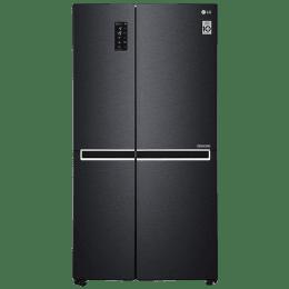 LG 687 L Double Door Side-by-Side Inverter Refrigerator (GC-B247SQUV, Matt Black)_1