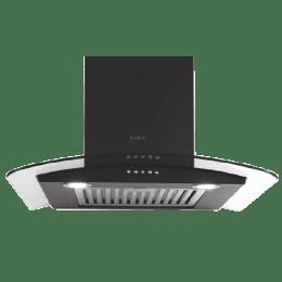 Elica 1220 m³/hr 60cm Wall Mount Chimney (Push Button Control, Glace SF ETB Plus LTW 60 PB LED, Black)_1