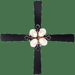 Usha Fontana Lotus 4 Blade Ceiling Fan (8901420564146, Black Chrome)_1
