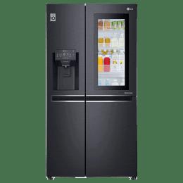 LG 668 Litres Frost Free Inverter Side-by-Side Door Refrigerator (Multi Air Flow, GC-X247CQAV.BMCQEB, Matt Black)_1