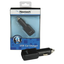 Nextech Single USB Port Car Charger for USB Powered Devices (Black)_1