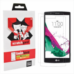 Scratchgard Twin Pack Screen Protector for LG G4 (Transparent)_1
