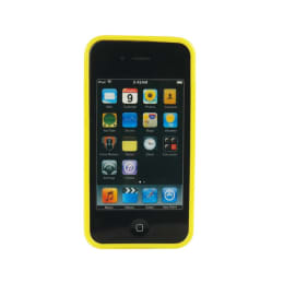 KingCom Transparent Jacket Silicone Back Case Cover for Apple iPhone 4/4S (IH122Y, Yellow)_1