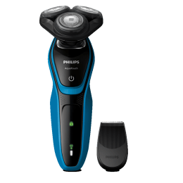 Philips AquaTouch Cordless Wet & Dry Shaver (30 Min Run Time/8h Charge, S5050/06, Aquatic Blue/Black)_1