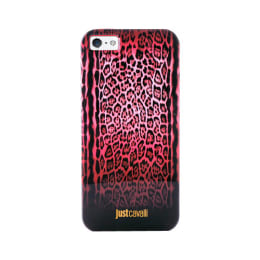 Just Cavalli Leopard Plastic Back Case Cover for Apple iPhone 5/5S (SW-052, Red)_1