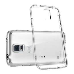 AirCase Capsule Rubber Back Case Cover for Samsung Galaxy S5 (AP-SC-622-TRN, Transparent)_1