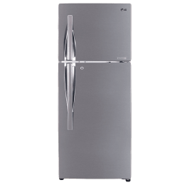 LG 260 L 2 Star Frost Free Double Door Inverter Refrigerator (GL-T292RPZY.CPZZEB, Shiny Steel, Convertible)_1