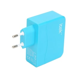 itek 4 USB Port Travel Adapter (WCH003_BL, As Per Stock Availability)_1