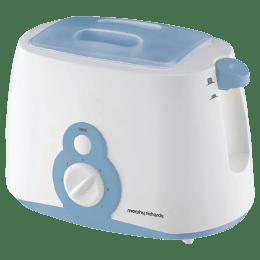 Morphy Richards 800 Watt 2 Slice Pop Up Toaster (AT 202, White/Blue)_1