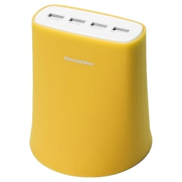 Skywater Jelly 5.1 Amp 4 Port USB Wall Charging Station (SW-117, Yellow)_1