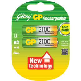 Godrej GP AA Rechargeable Battery (069T2C2A, Green/Yellow) (Pack of 2)_1