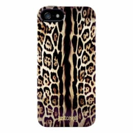 Just Cavalli Leopard Big Pattern Plastic Back Case Cover for Apple iPhone 5/5S (SW-050, Black)_1