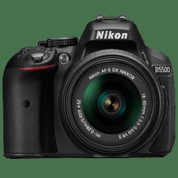 Nikon 24.2 MP DSLR Camera Body with 18 - 55 mm & 55 - 200 mm Lens (D5500, Black)_1