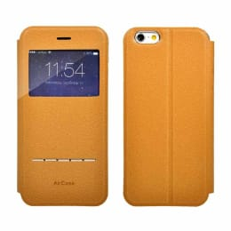 AirPlus AirCase Slider PU Leather Flip Case Cover for Apple iPhone 6 (AP-IC-604-TNBR, Tan Brown)_1