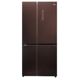 Haier 531 Litres Frost Free Inverter Side-by-Side Door Refrigerator (Dual Humidity Zone, HRB-550CG, Chocolate)_1