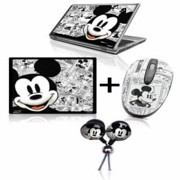 Disney 800 DPI USB Mickey Print Mouse & Mouse Pad (MM200/MP061, Black/White)_1