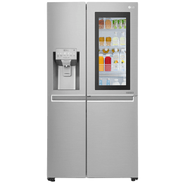 LG 668 L Frost Free Side-by-Side InstaView Door-in-Door Refrigerator, Inverter Compressor(GC-X247CSAV.ANSQEBN, Noble Steel)_1