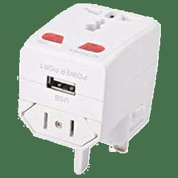 Croma Universal Travel Adaptor Charging Adapter (CH-153, White)_1