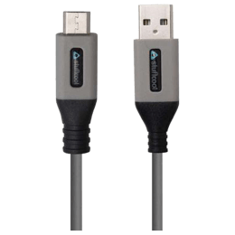 Stuffcool Dos 1 Amp 150 cm USB (Type-A) to Micro USB Cable (MIDOS-BLK/GRY, Black/Grey)_1