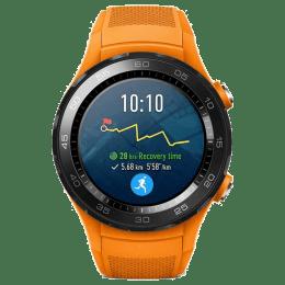 Huawei Watch 2 Smartwatch (GPS, 30.48mm) (Heart Rate Monitoring, LEO-BX9, Black/Dynamic Orange)_1