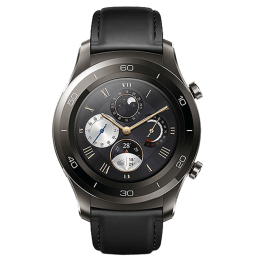 Huawei Watch 2 Smartwatch (GPS, 30.48mm) (Heart Rate Monitoring, LEO-BX9, Black/Carbon Black)_1