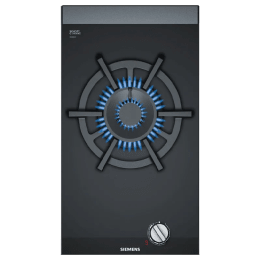 Siemens iQ700 Domino 1 Burner Ceramic Glass Built-in Gas Hob (StepFlame Technology, ER3A6AD70, Black)_1