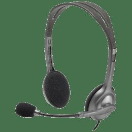 Logitech Stereo Headset H111 (Black)_1