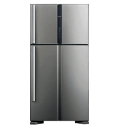 Hitachi 489 L 3 Star Frost Free Double Door Inverter Refrigerator (R-VG540PND3, Glass Gray)_1