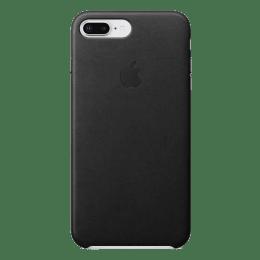 Apple iPhone 8 Plus/7 Plus PU Leather Back Case Cover (MQHM2ZM/A, Black)_1