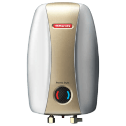 Racold Pronto Stylo 3 Litres Instant Water Geyser (3000 Watts, Golden/Grey)_1