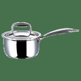 Vinod Platinum Triply 1.2 L Saucepan (PSP16, Steel)_1