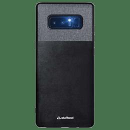 Stuffcool Eto Elegent & Stylish PU Leather Back Case Cover for Samsung Galaxy Note 8 (ETOSGN8-BLK, Black)_1