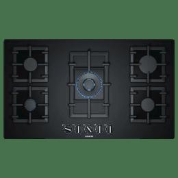 Siemens iQ500 5 Burner Tempered Glass Built-in Gas Hob (Sword Control Knobs, EP9A6QB90, Black)_1