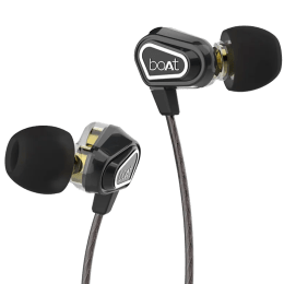 boAt Nirvanaa Duo In-Ear Wired Earphone with Mic (Deep Bass, Melody Black)_1