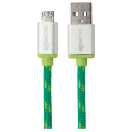 Boompods Retro 100 cm USB (Type-A) to Micro USB Cable (BP-RCMR-GRN, Green)_1