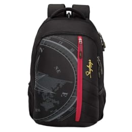 Sky Bags Fox Compass Backpack for Laptop (LPBPFOCHBLK, Black)_1