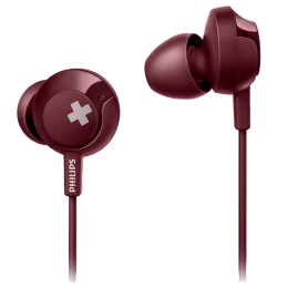 Philips In-Ear Wired Earphones with Mic (SHE4305RD/00, Red)_1