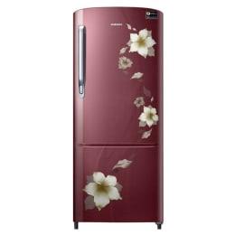 Samsung 230 L Direct Cool Single Door Refrigerator (RR24M274YR2, Red)_1