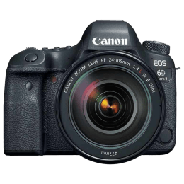Canon 20 MP DSLR Camera Body with 24 - 105 mm Lens (EOS 6D Mark II, Black)_1