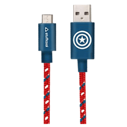 Stuffcool Marvel Captain 100 cm USB 2.0 (Type-A) to USB (Type-C) Cable (USBCA-CPTN, Red/Blue)_1