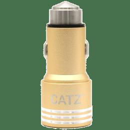 Catz 2 Amp Car Charger (CZ-CC2-GD, Gold)_1
