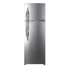 LG 335 L 4 Star Frost Free Double Door Inverter Refrigerator (GL-R372JPZN, Shiny Steel)_1