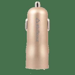 Stuffcool Colt 4.8 Amp Dual USB Car Charging Adapter (COLT48-GLD, Gold)_1