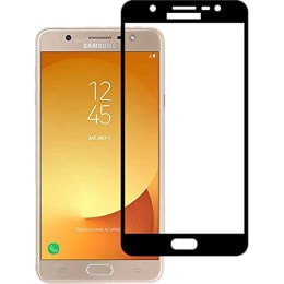 Stuffcool Mighty 2.5D Tempered Glass Screen Protector for Samsung Galaxy J7 Max (MGGP25DSGJ7MAX, Black)_1