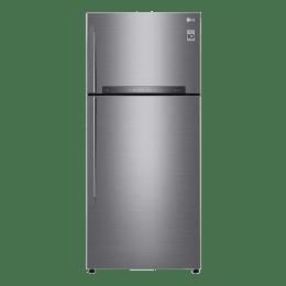 LG 546 L 3 Star Frost Free Double Door Inverter Refrigerator (GN-H702HLHU, Steel)_1