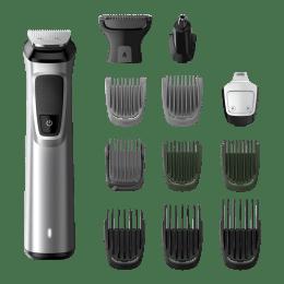 Philips Multigroom Series 7000 Self-sharpening Steel Blades Cordless 13-in-1 Body Grooming Kit (MG7715/15, Silver)_1