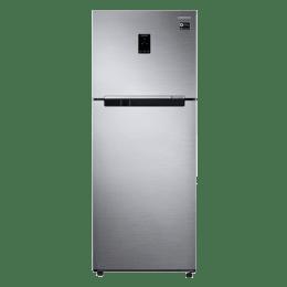 Samsung 394 Litres 2 Star Frost Free Double Door Inverter Refrigerator (RT39M5538S8/TL, Elegant Inox)_1