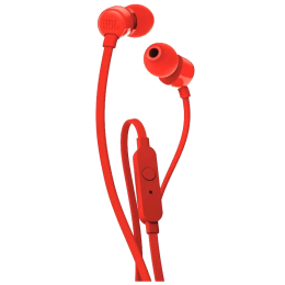 JBL Tune In-Ear Wired Earphones with Mic (T110, Red)_1